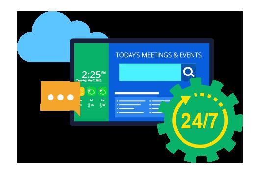 meeting room digital signage